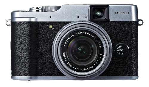 Fujifilm X20 Silver 12 Digital Camera with 2.8-Inch LCD (Silver)