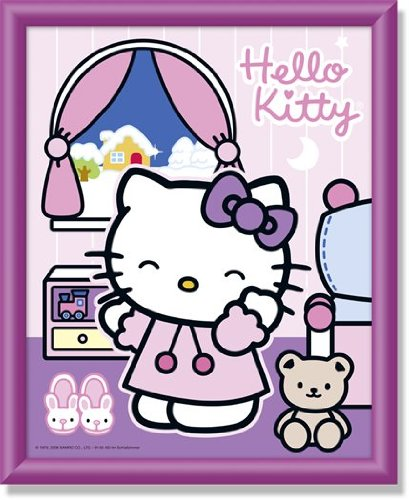 Schipper 914 0463 - Painting by Number, Hello Kitty in the Bedroom hello kitty marker by number
