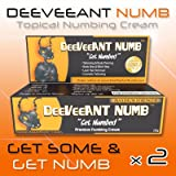 Deeveeant Numb 2x10g Powerful Topical Numbing Cream Anesthetic -Pain FREE Procedures!