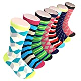 Soft and Comfortable Cool Fun and Colorful Mens Dress Socks 7 Exclusive Designs
