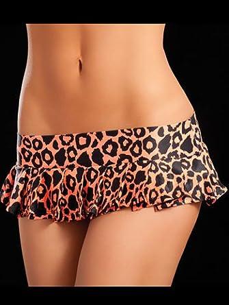 Orange Tiger Pleated Mini Skirt - SMALL/MEDIUM