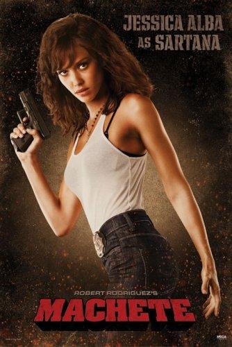 """Machete - Movie Poster (Jessica Alba As Sartana) (Size: 24"""" X 36"""")"""