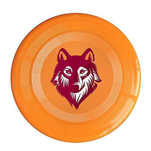 SAXON13CAP Funny Red Wolf Logo 150g Orange Toys Flying Disc