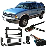 Fits Chevy S-10 Blazer 95-97 Single DIN Stereo Harness Radio Install Dash Kit