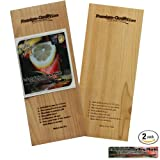 Cedar Planks - Grilling Planks - Cedar Planks for Grilling Salmon, Chicken, Steak, Fish, Vegetables, Hot Dog, Lobster, Meat - Use For: Cedar Plank Grilling or Oven - Salmon Recipes - Cookbook Bonus: Recipe Book - 2 Set Pack Best Quality - Made in USA