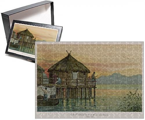 Photo Jigsaw Puzzle Of Swiss Lake Dwelling