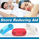 Advanced 2-IN-1 Anti Snoring and Air Purifier Sleeping Breath Aid Nose Clip Snore Stopper to Ease Breathing Snoring ,Natural and Comfortable Sleep (RED)