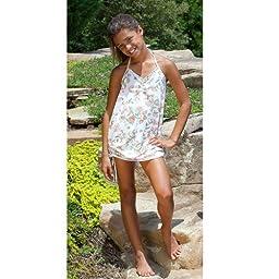 9\'s Designer Swimwear Ivy Flowers Halter Ruche Coverup 14