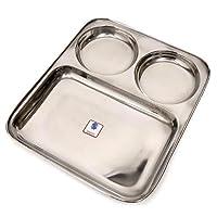 【インドとアジアの食品・食材】 カレー皿【四角】29cm x 24.5cm