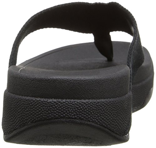 FitFlop Women's Surfa Flip Flop, All Black, 9 M US