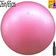 Fitness Ball: Pink, 26in/65cm Diamete…