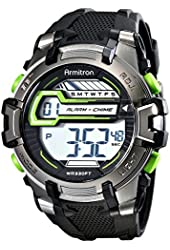 Armitron Sport Men's 40/8341GRY Digital Resin Watch with Textured Band