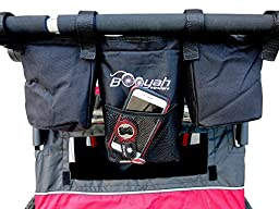 Booyah Strollers Double Stroller Organizer for Child and Large Pet Stroller.
