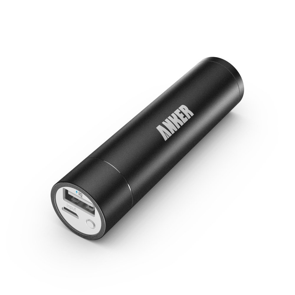 (Upgraded Capacity) Anker 2nd Generation Astro mini 3350mAh Lipstick-Sized Portable Charger External Battery Power Bank with PowerIQ Technology for iPhone, Samsung, GoPro and More (Black)