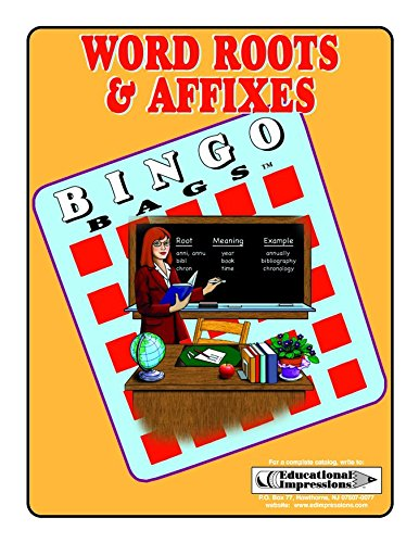 Word Roots & Affixes Bingo PDF