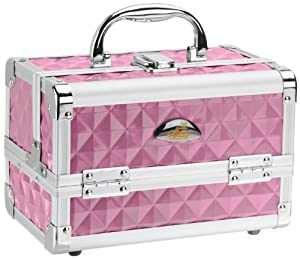 SHANY Cosmetics Purple Diamond Makeup Train Case