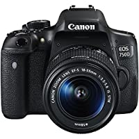 Canon EOS 750D 24.2MP Digital SLR Camera Black with 18-55 IS STM Lens with 8GB Memory Card and Carry Bag