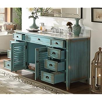"""60"""" Cottage look Single Sink Abbeville Bathroom Sink vanity Model CF-66323BU-60"""