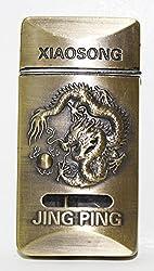 Designer Butane Jet Flame Metal Cigarette Lighter Golden -LIT222