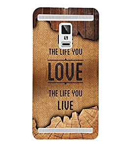 Live The Life You Love 3D Hard Polycarbonate Designer Back Case Cover for VIVO X3S