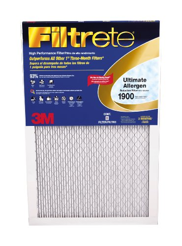 Filtrete UA22DC-6 Ultimate Allergen Reduction Filters, 1900 MPR, 20 x 30 x 1, 6-Pack