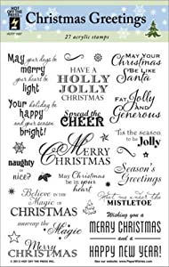 Hot Off The Press - Christmas Greeting Stamp Set
