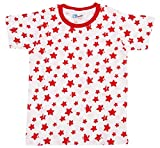 Eteenz Boys' Regular Fit T-Shirt (SH 35, Red and White, 4 Years)
