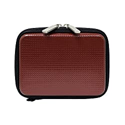 CaseCrown Hard Cover Case (Red) for Toshiba Canvio Basics Portable Hard Drive