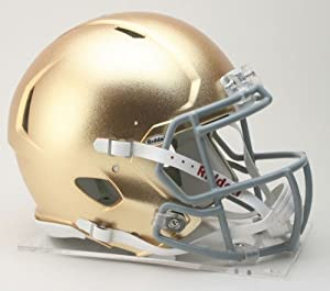 Buy NCAA Riddell Notre Dame Fighting Irish Authentic Full-Size Speed Helmet Textured Gold Finish by Riddell