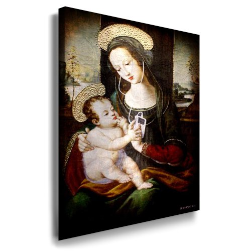 "Banksy Bild - 70x50cm k. Poster ! nr. 75321 Bild fertig auf Keilrahmen ! Pop Art Gemälde Kunstdrucke, Wandbilder, Bilder zur Dekoration - Deko / Top 100 ""Banksy"" Modern Bilder"