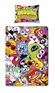 Character World 135 x 200 cm Moshi Monsters Moshlings Single Panel Duvet Set, Multi-Color
