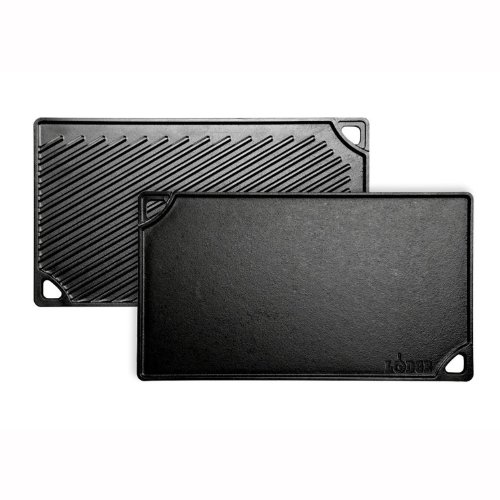 Lodge Logic LDP3 Double Play Reversible Grill/Griddle, 9.5