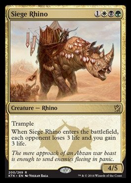 Magic: the Gathering - Siege Rhino (200/269) - Khans of Tarkir