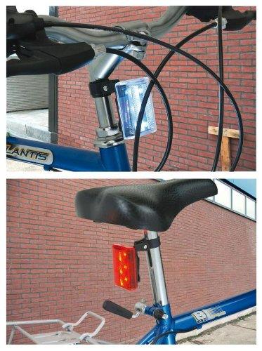MQ LED Fahrradlicht Fahrradlampen-Set Rücklicht Rückleuchte Vorderlicht Frontlicht