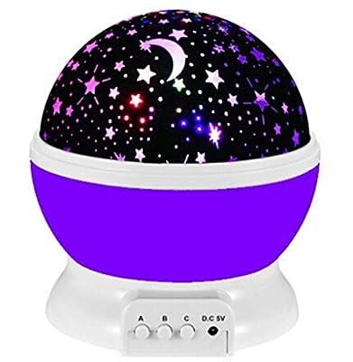 Star lighting Lamp?Romantic Cosmos Star Sky Moon Night Projector, 360 Degree Rotating Night Light Lamp for Christmas