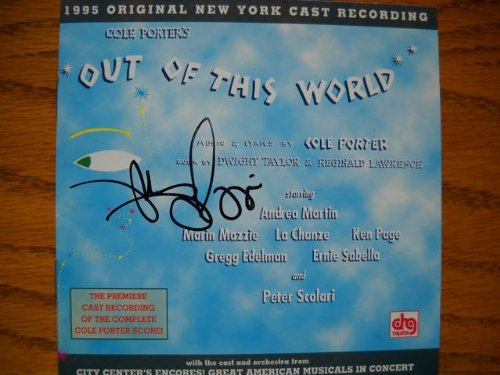 Marin Mazzie Signed Cd From Out Of This World Presented By City Center Encores Recorded In 1996 .