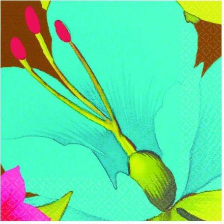 Cool Tiki Blossoms Beverage Napkins