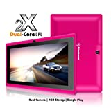 Simbans (TM) S73P 7 Inch android 4.1 Dual Core Tablet PC – Dual Camera, Jelly Bean, 4GB, A20 1.2Ghtz, Touch Screen, WiFi, YouTube, NetFlix, Skype, Games- PINK