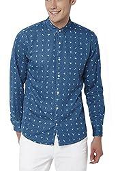 Chumbak Men's Casual Shirt (8904218043069_CMSCS005 XL_X-Large_Blue)