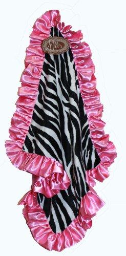 Pink Zebra Baby Blanket front-179414
