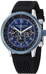 Stuhrling Original Men's 858R.01 Concorso Swiss Quartz  Rubber Strap Watch