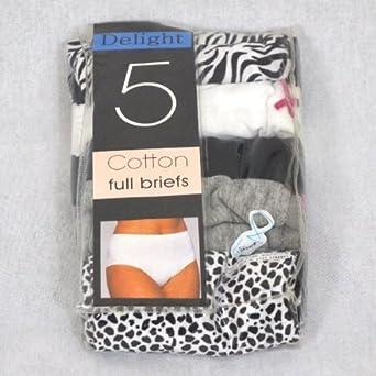 Delight 5 Pack Ladies Full Knicker sizes 10-22 (18)