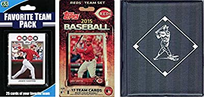 MLB Cincinnati Reds Men's Licensed 2015 Topps Team Set and Favorite Player Trading Cards Plus Storage Album