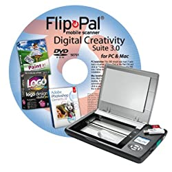 Flip-Pal mobile scanner with Digital Creativity Suite 3.0 DVD