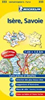 Carte departements Isere, Savoie