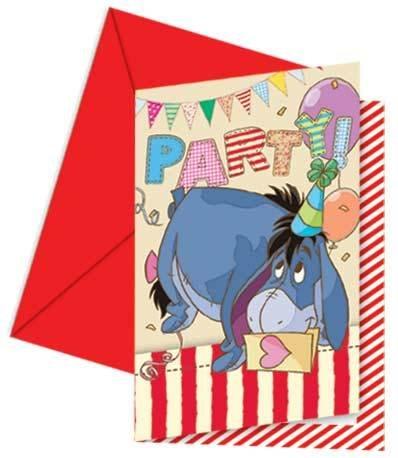 6 Einladungskarten Winnie the Pooh Alphabet™