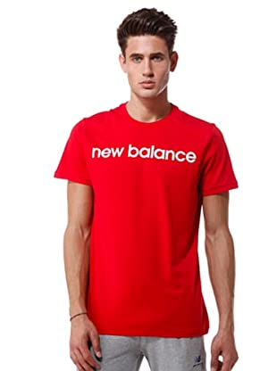 New Balance T-Shirt Drawing Logo (rosso)