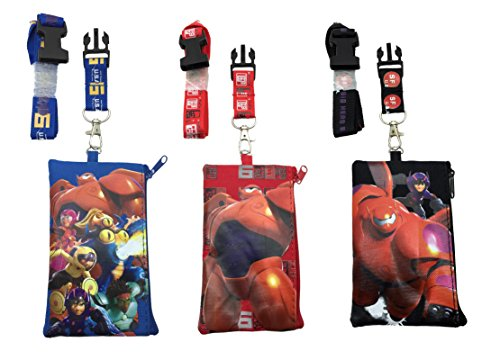 Disney Big Hero 6 Lanyards - Set of 3