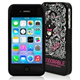 CaseCrown ft. Zoodorable Nao Mee Shinjuku 2 Piece Glider Cover Case (Black) for Apple iPhone 4S
