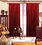 "Red Velvet Curtain Panel 55"" x 96"" Long"
